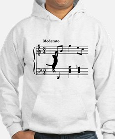 Cat Jumping to Note Hoodie