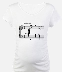 Cat Jumping to Note Shirt