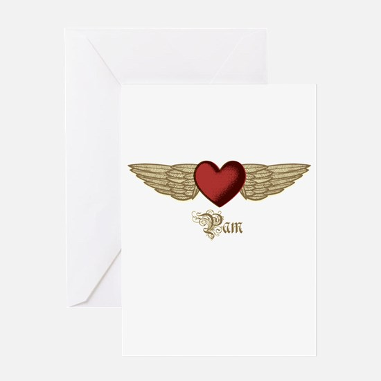 Pam the Angel Greeting Card