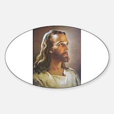 Portrait of Jesus Oval Bumper Stickers