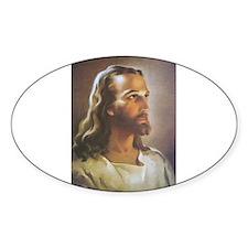 Portrait of Jesus Oval Decal