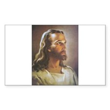 Portrait of Jesus Rectangle Decal