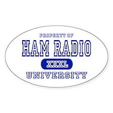 Ham Radio University Oval Decal