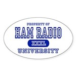 Ham Radio University Oval Sticker