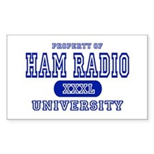 Ham Radio University Rectangle Decal