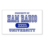 Ham Radio University Rectangle Sticker