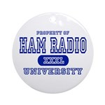 Ham Radio University Ornament (Round)