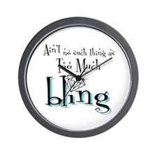 It's All About Da Bling Wall Clock