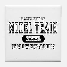 Model Train University Tile Coaster