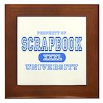 Scrapbook University Framed Tile