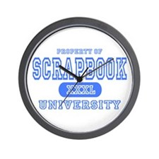 Scrapbook University Wall Clock
