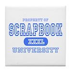 Scrapbook University Tile Coaster