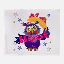 Hoot Owl Throw Blanket