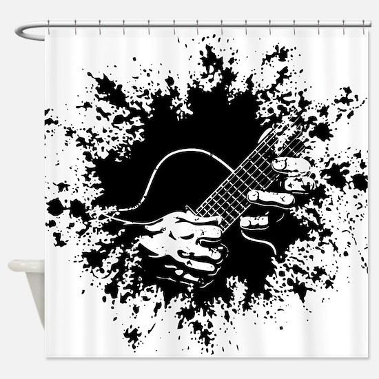 Guitar Hands II -splat Shower Curtain