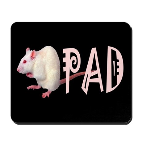 White mouse (rat) Mousepad