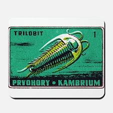 Trilobite Vintage Czechoslovakia Matchbox Label Mo