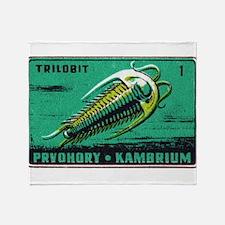 Trilobite Vintage Czechoslovakia Matchbox Label S