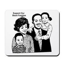 Support The Black Family Mousepad