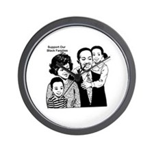 Support The Black Family Wall Clock
