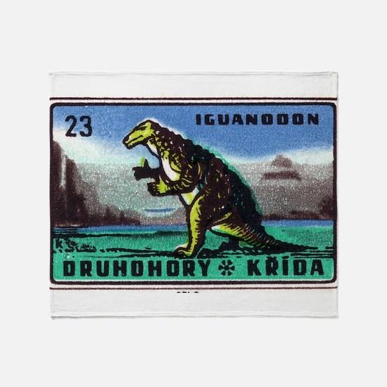 Iguanodon Dinosaur Czech Matchbox Label Stadium B
