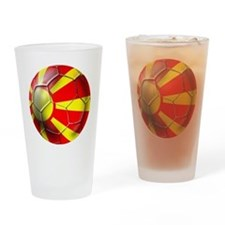Macedonia Football Drinking Glass