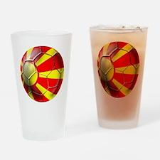 Macedonia Football Drinking Glass