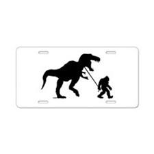 Gone Squatchin with T-rex Aluminum License Plate