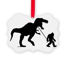 Gone Squatchin with T-rex Ornament