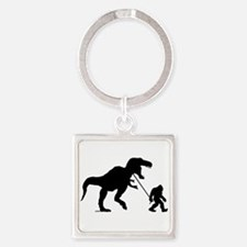 Gone Squatchin with T-rex Square Keychain