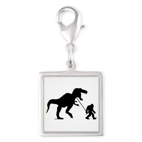 Gone Squatchin with T-rex Silver Square Charm