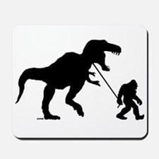 Gone Squatchin with T-rex Mousepad