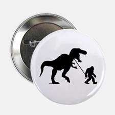 "Gone Squatchin with T-rex 2.25"" Button"