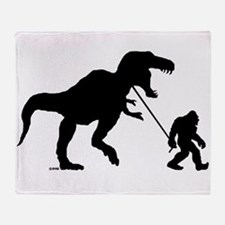Gone Squatchin with T-rex Throw Blanket