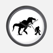 Gone Squatchin with T-rex Wall Clock
