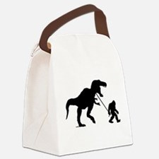 Gone Squatchin with T-rex Canvas Lunch Bag