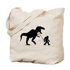 Gone Squatchin with T-rex Tote Bag