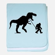 Gone Squatchin with T-rex baby blanket