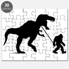 Gone Squatchin with T-rex Puzzle