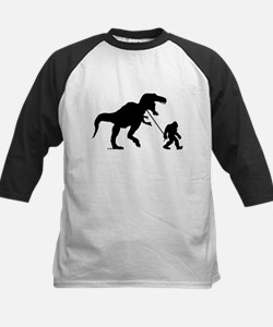 Gone Squatchin with T-rex Baseball Jersey