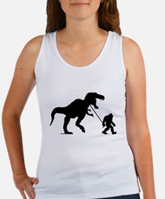 Gone Squatchin with T-rex Tank Top