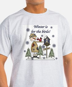 Winter's For the Birds Ash Grey T-Shirt