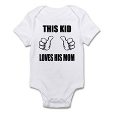 This Kid Loves His Mom Infant Bodysuit