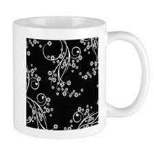 Black and White Flowers Mug