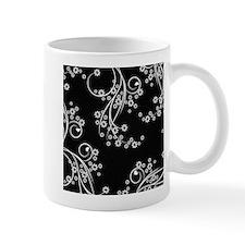 Black and White Flowers Mug