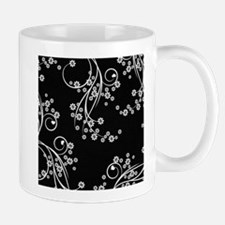 Black and White Flowers Small Small Mug
