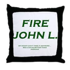 Cute Michigan state spartans Throw Pillow