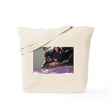 Chihuahua dog thinking Tote Bag