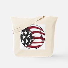 USA Stars and Stripes Baseball Tote Bag