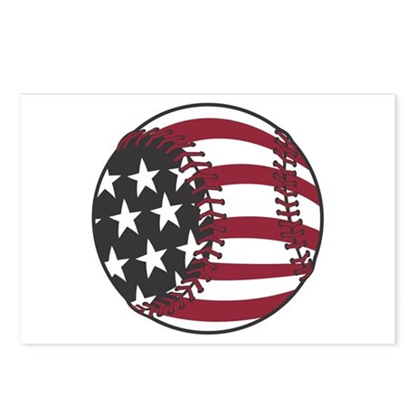 USA Stars and Stripes Baseball Postcards (Package