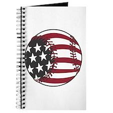USA Stars and Stripes Baseball Journal